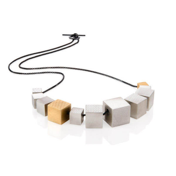 Continuous cube necklace