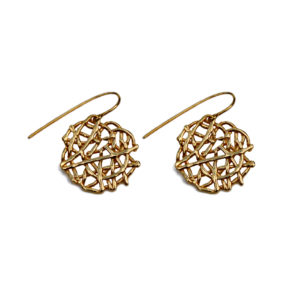 Free Spirit lace disc earrings by Katerina Damilos