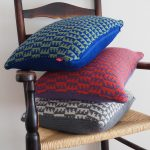 Loopy Ewes knitted cushion