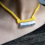 knitted collar yellow