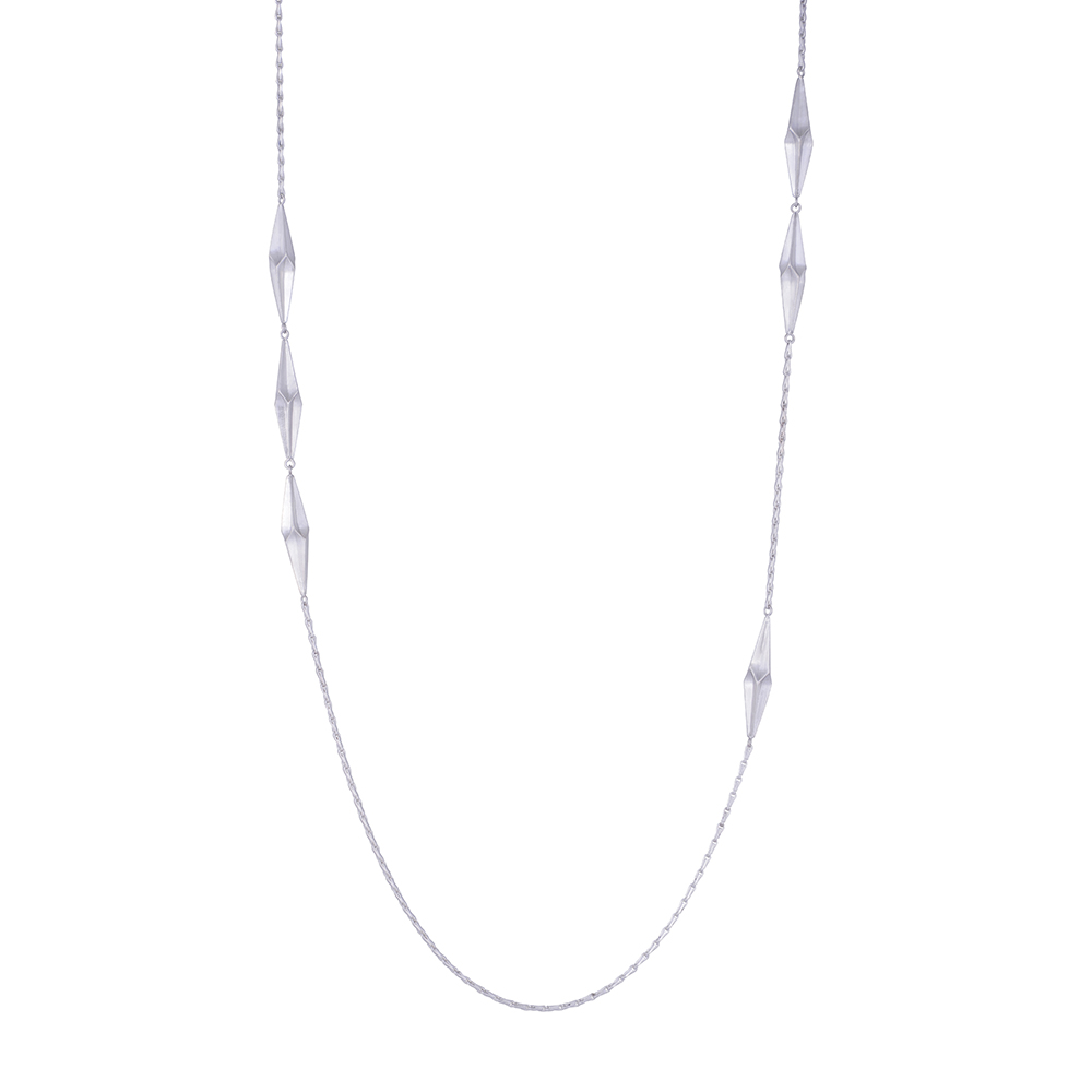 Silver Shard Long Necklace by Alice Barnes
