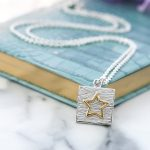 Sterling silver and gold vermeil neon art jewellery necklace