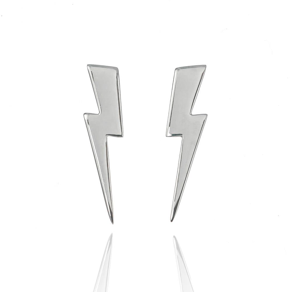 Sterling-recycled-silver-eco-friendly-large-ligtning-bolt-earrings