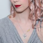 Sterling silver gold vermeil thunderstorm weather necklace