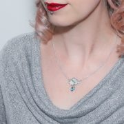 Sterling silver rainclouds necklace model