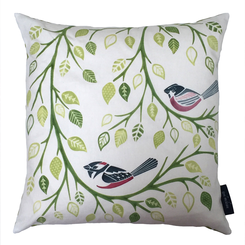 Tori McLean Birds and Bracnhes Cushion Front
