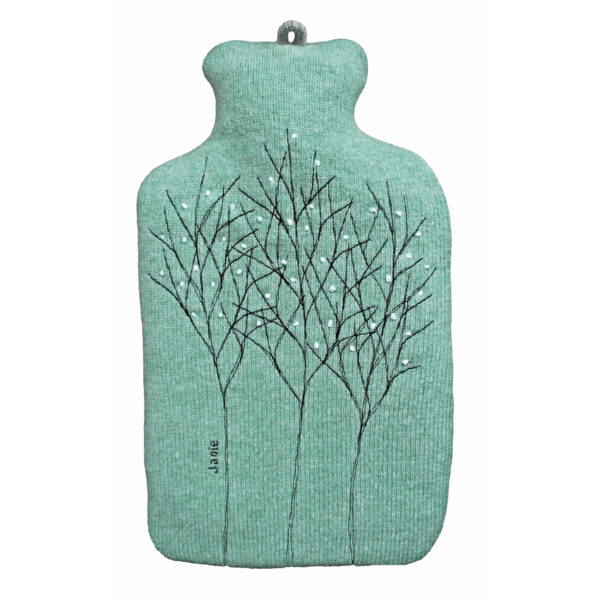 Treeline Jade Hot Water Bottle Cover Front