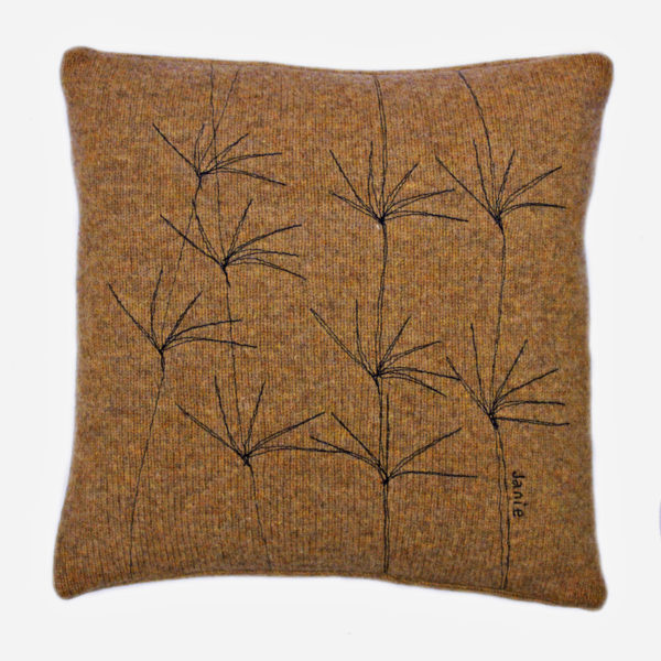 Wildflower cushion 30 cms sq Goldcrest