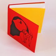 Bright red puffin sketchbook