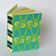 'fish design' open spine hand stitched journal