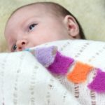 Pure cashmere flag baby blanket