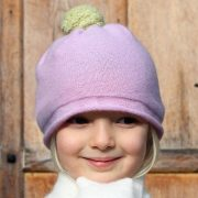 Pure cashmere children's pompom hat