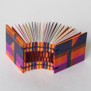 Open spine binding of mini zigzap book