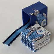 Spine of Mini fish open spine book and slipcase