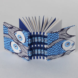 Mini fish open spine book