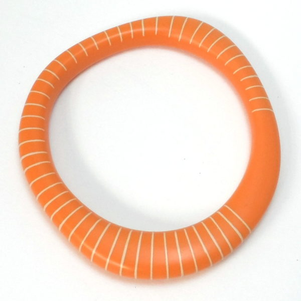 orange bangle handmade2