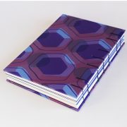 Peacock purple memory book