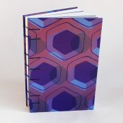 Front view purple peacock memory book