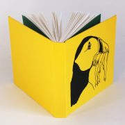 Puffin sketchbook in yellow