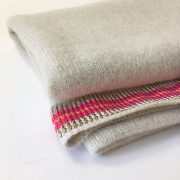 pure cashmere shawl with striped silk band