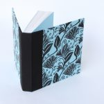 Square notebook in blue and black