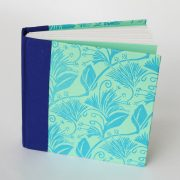 small square notebook in pastel green