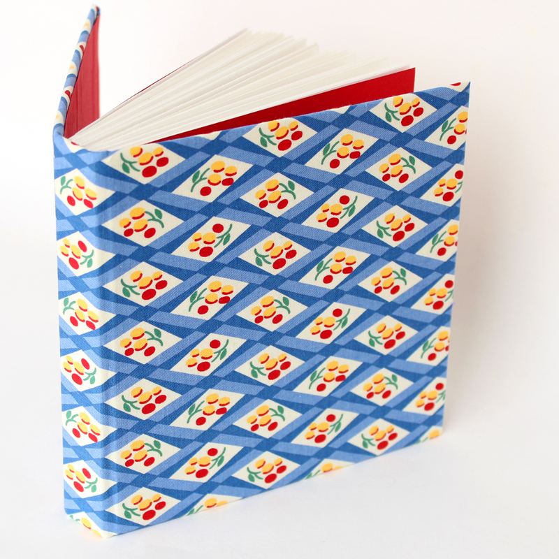 Square sketchbook in vintage style fabric