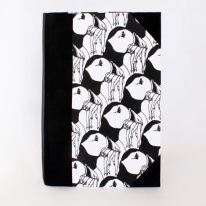 A5 puffin sketchbook front view