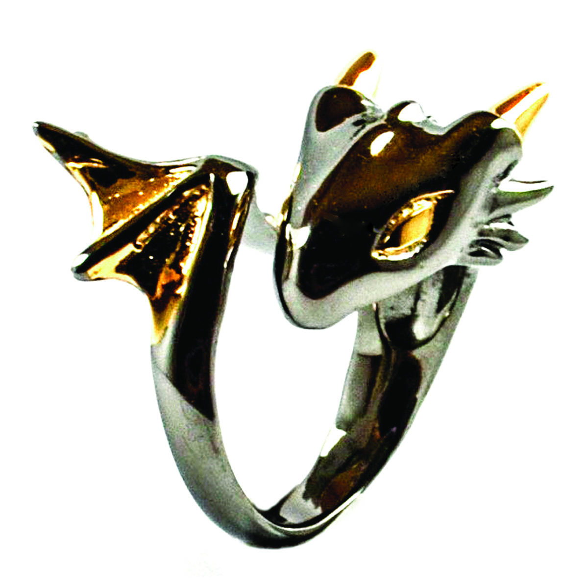 dragon ring, black dragon ring, gold dragon ring