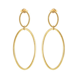 Gold Cadence Drop Earrings