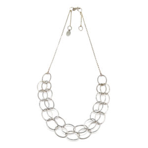 Double Line Cascade Necklace