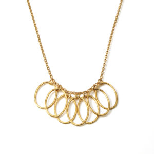 Gold Cascade Leaf Necklace