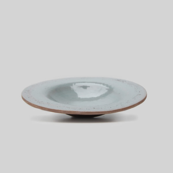 Ceramic Grey Linen Salad Bowl