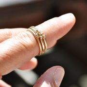 ORB gold stacking rings close up