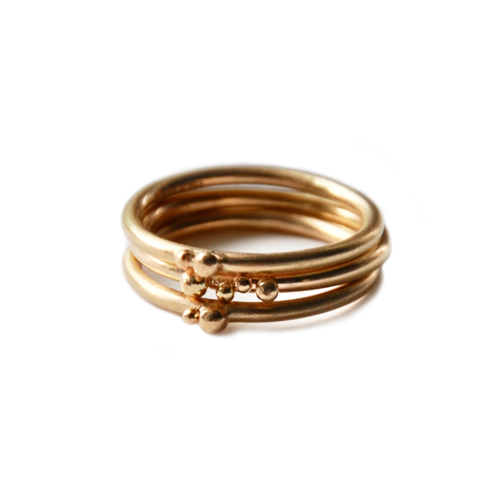 ORB stacking rings trio - 9ct gold