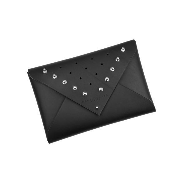 Leather Envelope Clutch - studded (medium) £110