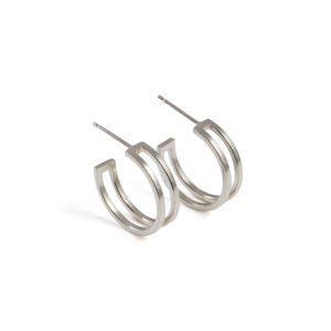 Small Parallel Hoop Earrings