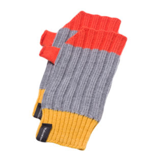 Merino wool grey mittens