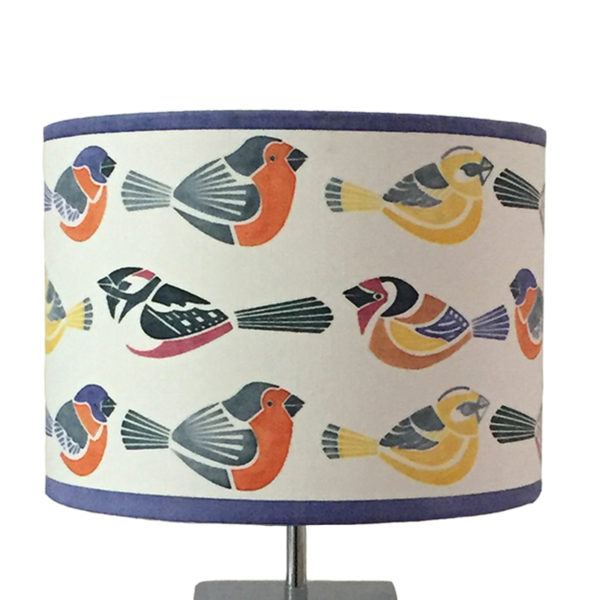 Tori McLean British Birds Table Lamp Lampshade Mulit Detail