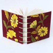 Small flower fabric book
