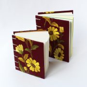 vintage floral fabric books x2