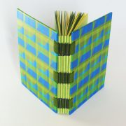 green zigzap open spine book