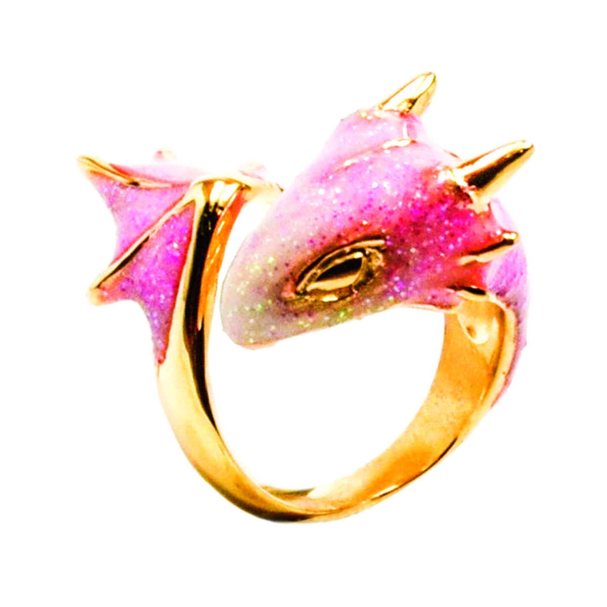 pink dragon ring, pink dragon, pink dragon jewellery, dragon ring