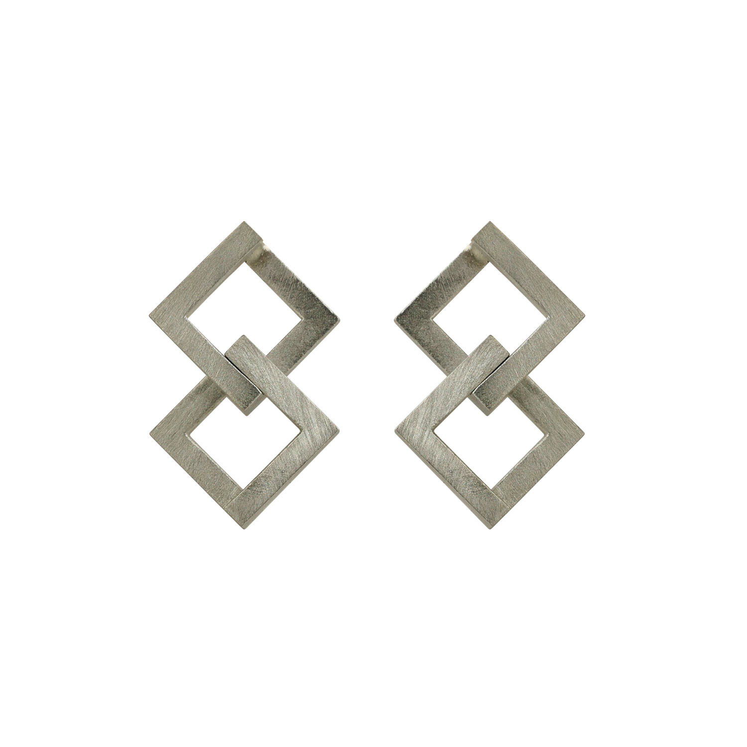 Geom Balance Earrings silver
