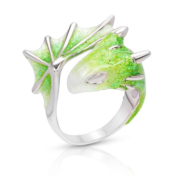 Silver Peridot Dragon Ring_Monvatoo