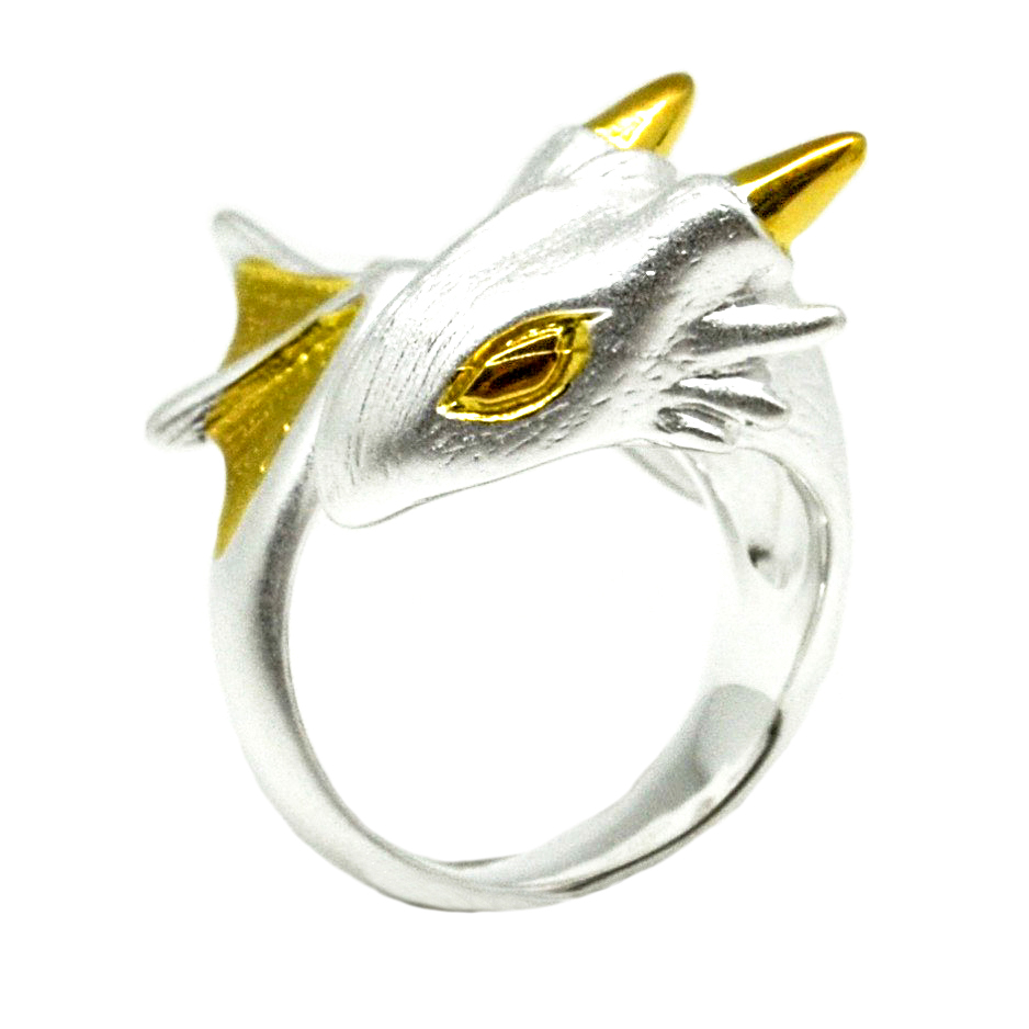 silver dragon ring, silver dragon, dragon ring