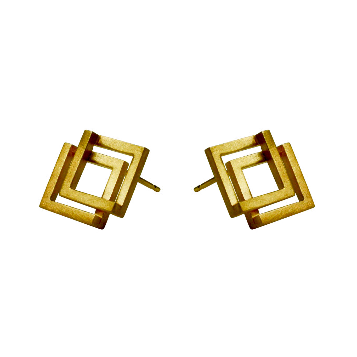 Double Geom 18ct Vermeil