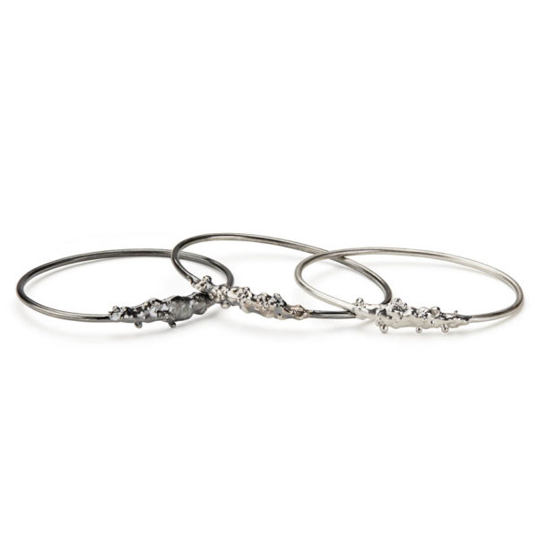 Skins Bangles in Sterling Silver