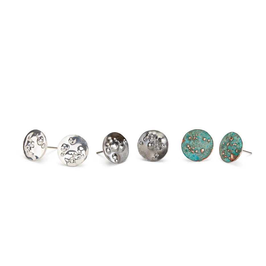 Skins Studs in Sterling Silver