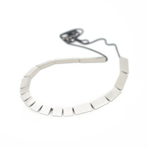 Silver continuous squares necklace